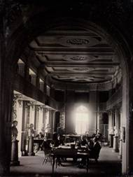 Southworth & Hawes: The Boston Athenäum, Lesesaal, um 1853/55